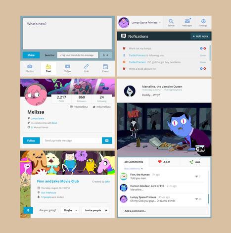 Adventure Time - Free UI Kit | Web Design Freebies | Scoop.it