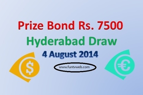 Peshawar Rs. 7500 Prize Bond Draw Result list on 4 August 2014 | Fun TV Web | Scoop.it