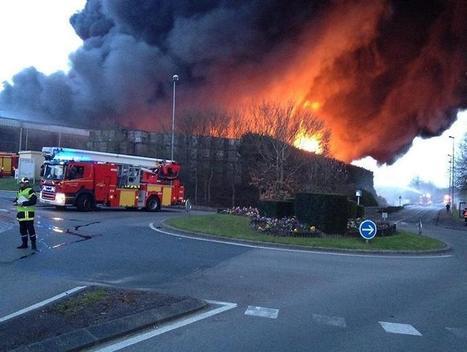 Carquefou. Incendie violent à la société coopérative et fruitière de ... - maville.com   SDIS44   Scoop.it