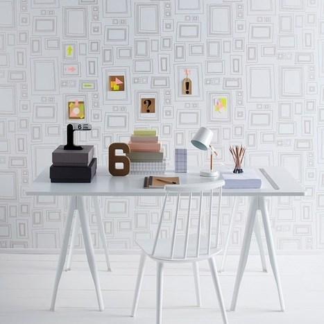 Everyone's an Artist: Frames Wallpaper by Taylor & Wood - Trendir | Wallpaper | Scoop.it