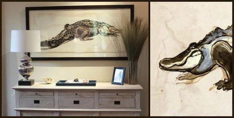 Alligator Art Collection: Beach Decor, Coastal Home Decor, Nautical Decor, Tropical Island Decor & Beach Cottage Furnishings | Pretty Beach-themed Decors | Scoop.it