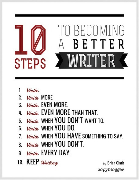 10 Steps to Becoming a Better Writer (Poster) | Copyblogger | Scrittura | Scoop.it