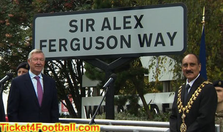 Manchester United Give Honour to Sir Alex Ferguson with Street Name   Football Ticket   Scoop.it