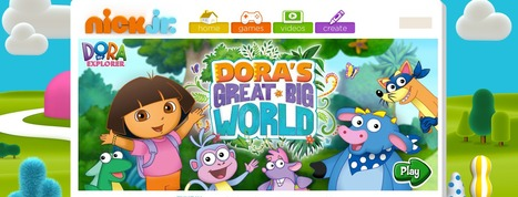 Dora's Great Big World - a Virtual World with Games, Videos, Stickers and more | www.homeschoolsource.co.uk | Scoop.it