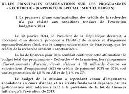 Budget de la recherche: l'aveu   Enseignement Supérieur et Recherche en France   Scoop.it