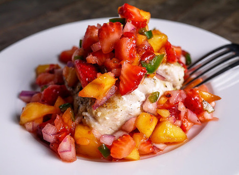 #LIGHTRECIPE - Pan Seared Tile Fish with Strawberry Peach Fruit Salsa | informativo multimedia | Scoop.it