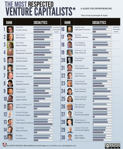The Top 30 Most Respected Venture Capitalists (infographic) | Startup Advice | Scoop.it