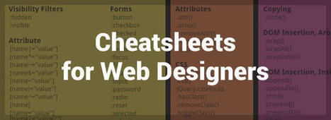 An Extensive Collection of Cheatsheets for Web Designers - Market Blog | Webmaster-cms | Scoop.it