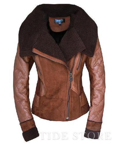 European Style Stylish Suede Warm Long Sleeve Women Jacket   2014 spring  women's fashion   Scoop.it