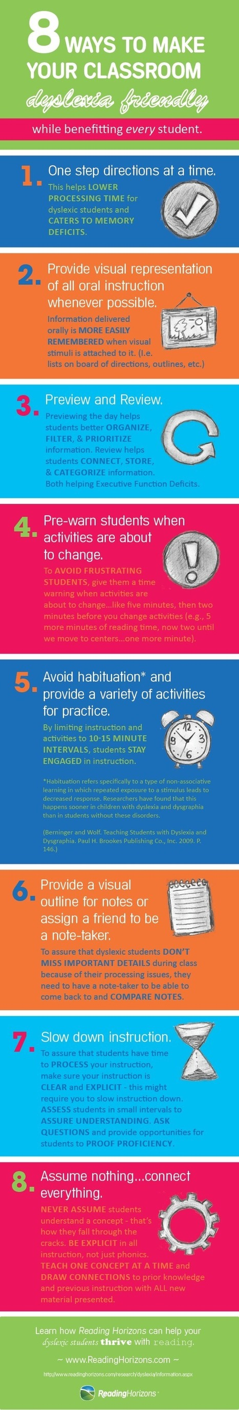 How to Make Your Classroom Dyslexia Friendly Infographic - e-Learning Infographics | Education Matters - (tech and non-tech) | Scoop.it