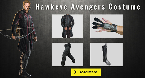 Ultimate Hawkeye Avengers Costume Collection Guide | celebrities Leather Jackets | Scoop.it
