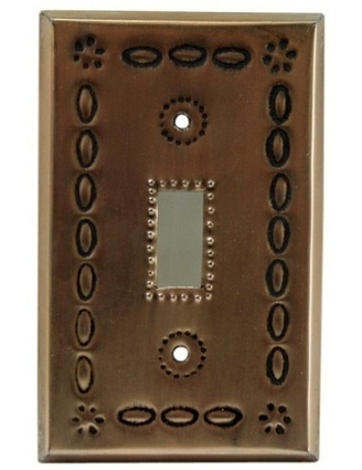 Single Switch Plate Cover Copper | Mexican Furniture and Decor | Scoop.it