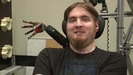 Robotic arm gives quadriplegic man a new sense of touch | Longevity science | Scoop.it
