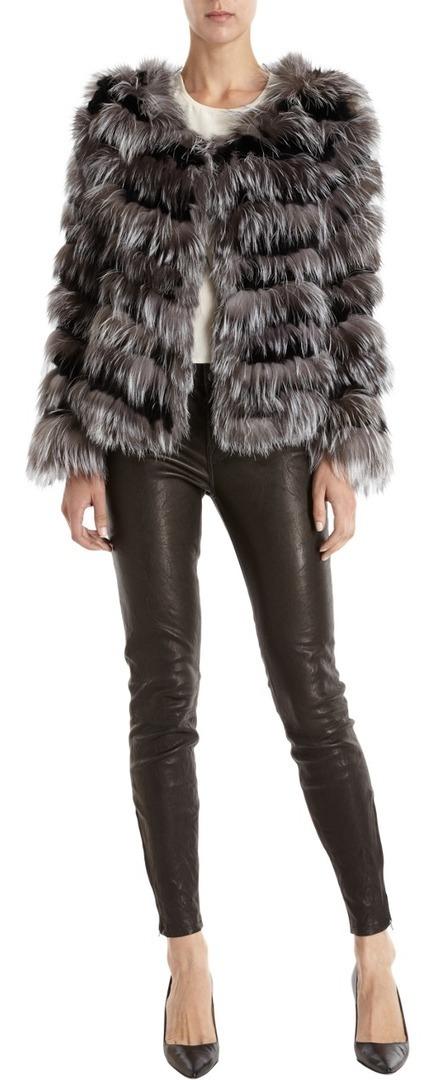 Co Striped Fur Coat | GonPin.me | My Fasion 101 | Scoop.it