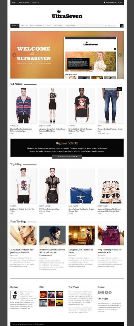 UltraSeven, WordPress Responsive Minimal E-commerce Theme   WP Download   Save big with Amazon coupon 10%   Scoop.it