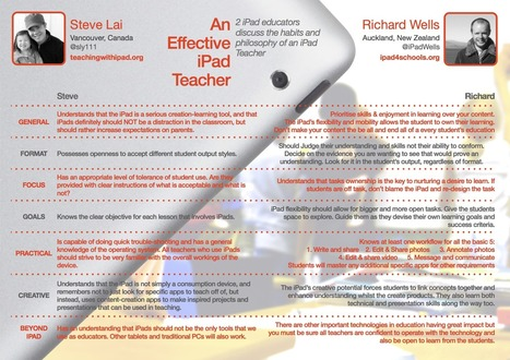 IPAD $ SCHOOLS: Habits of an effective iPad Teacher | Mobile Learning @ Roane State Community College | Scoop.it