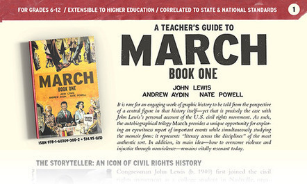 March: Book One Teacher's Guide / Top Shelf Productions | Graphic novels in the classroom | Scoop.it