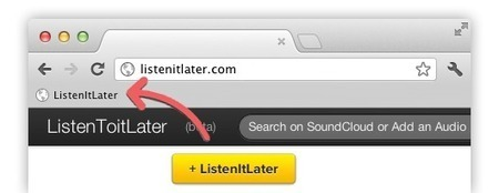 ListenToItLater - Online Music Aggregator and Bookmarking Tool | Aprendiendo a Distancia | Scoop.it