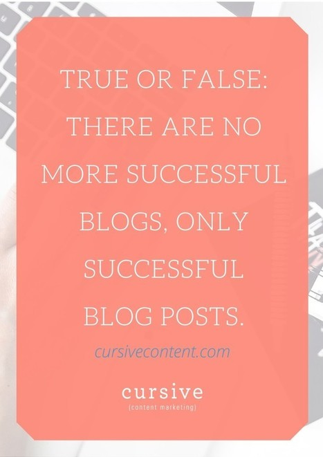 There Are No More Successful Blogs, Only Successful Posts | Social Media Marketing Does Not Replace SEO | Scoop.it