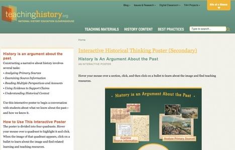 Interactive Historical Thinking Poster (Secondary) | Teachinghistory.org | ICT in en om het onderwijs | Scoop.it