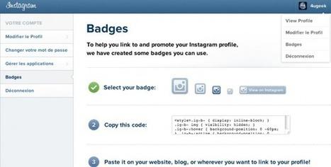 Instagram lance les badges pour promouvoir les profils Web | Le Social Media par ChanPerco | Scoop.it