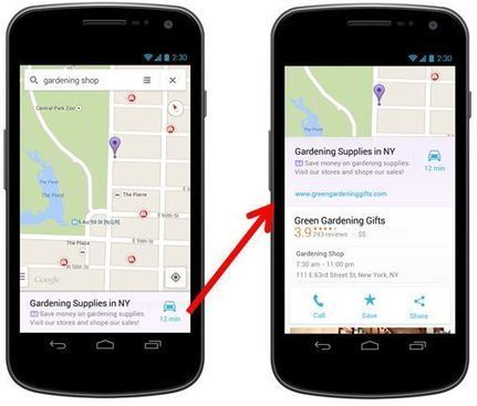 New Local Ad View (And AdWords Click Type) Comes To Google Maps App | eComand Solutions | Scoop.it
