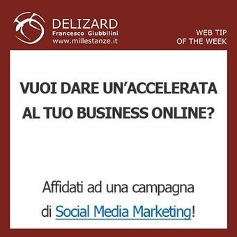 #28 DELIZARD WEB TIP - Il Social Media Marketing condotto in ... | Content Marketing | Scoop.it