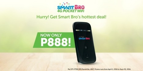 Deal Alert: SMART Bro's 4G Pocket WiFi only Php888! | NoypiGeeks | Philippines' Technology News, Reviews, and How to's | Gadget Reviews | Scoop.it