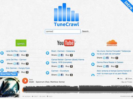 TuneCrawl : Spotify, YouTube et SoundCloud sur une seule et même page | Musique et Web culture | Scoop.it
