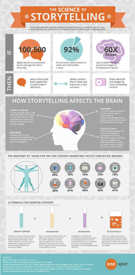 The Science Behind Storytelling Infographic | Online tips & social media nieuws | Scoop.it