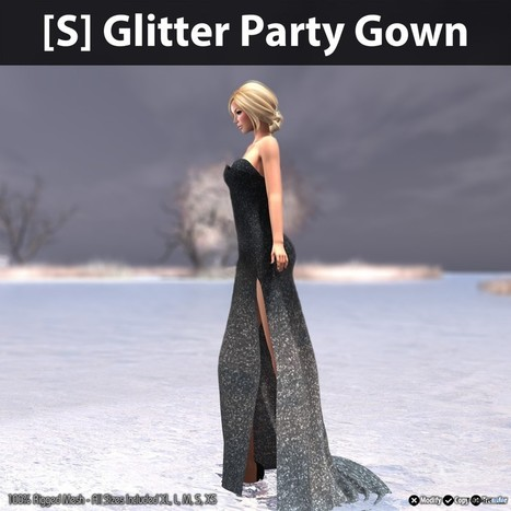 Glitter Party Gown Teleport Hub Group Gift by [satus Inc] | Teleport Hub - Second Life Freebies | Second Life Freebies | Scoop.it