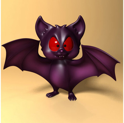Chauve souris cartoon rigged 3D | 3D Library | Scoop.it