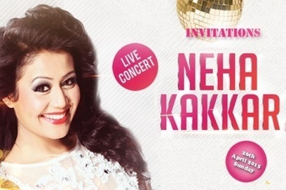 Gear up for Neha Kakkar Live Musical Concert in Mumbai, Plays in Mumbai, Book Concert Tickets Online - Oysterz.in | Nightlife Events in Pune,DJ Party in Mumbai, Nightclubs in Pune | Scoop.it
