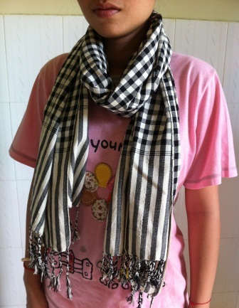 Cotton Striped Traditional Kroma(Scarf), ethically handmade by local disadvantaged weavers.   Silk Scarfs, Ethically handmade   Scoop.it