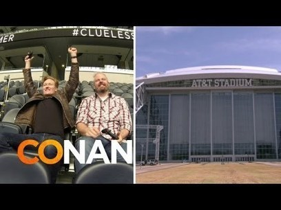 Conan O'Brien Plays Video Games on the Dallas Cowboy's Giant Stadium Screen on 'Clueless Gamer' | Videogames | Scoop.it