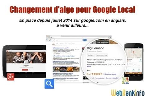 Changement d'algo important sur Google Local (Juillet 2014) | SEO & Inbound Marketing | Scoop.it