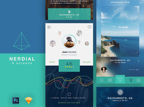 20 nouveaux UI Kits gratuits pour créer vos applications mobiles | Design Spartan : Art digital, digital painting, webdesign, ressources, tutoriels, inspiration | Les belles ressources ! print - web - digital | Scoop.it