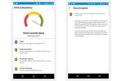 DTEK : l'application BlackBerry qui sécurise Android ! | Addicts à Blackberry 10 | Scoop.it