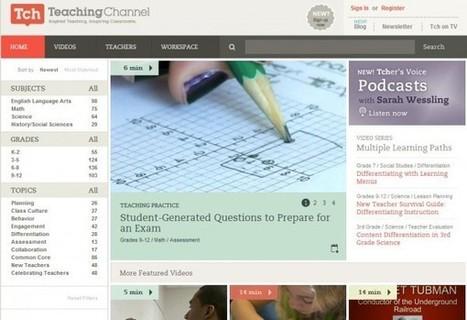 teachingchannel – Vídeos de profesores mostrando sus técnicas educativas | A New Society, a new education! | Scoop.it
