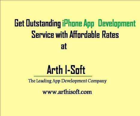 Excellent iPhone App Development Service with Affordable Rates. | iphone application development | Scoop.it
