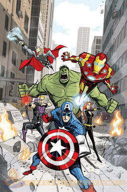 "EXCLUSIVE: Pixar Artist Bobby Rubio Covers ""Avengers Assemble"" - Comic Book Resources 
