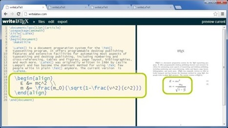 writeLaTeX: Online Collaborative LaTeX Editor with Integrated Rapid Preview | EEDSP | Scoop.it