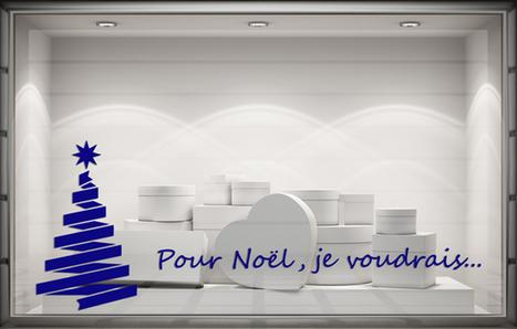 Sticker Noël - Pour Noël, je voudrais. Paris - Graphicarts | Lettrage adhésif et impression numérique | Scoop.it