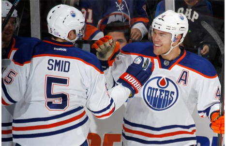 Wayne Gretzky congratulates Taylor Hall on breaking his record | Edmonton Journal | hockey sticks | Scoop.it