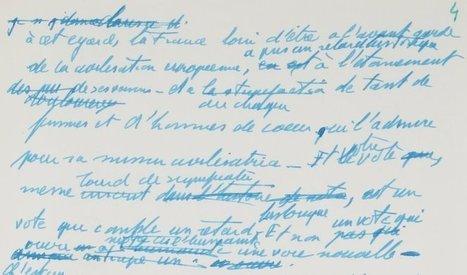 Discours sur l'abolition de la peine de mort : mise en ligne du manuscrit de Robert Badinter | Gallica | Nos Racines | Scoop.it