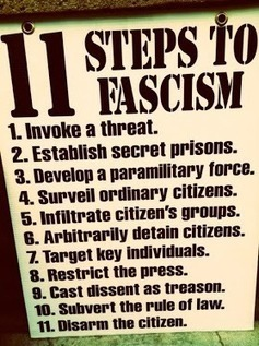 11 Steps To Fascism...How Far Along Are We?? | Littlebytesnews Current Events | Scoop.it