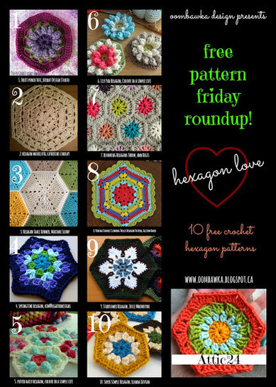 Oombawka Design - Completely Hooked...on crochet: Free Pattern Friday Roundup! Hexagon Love! | For DIY'ers | Scoop.it