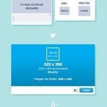 ¿Cuánto miden las imágenes en redes sociales? | Visual.ly | TICS Y GESTIÓN | Scoop.it