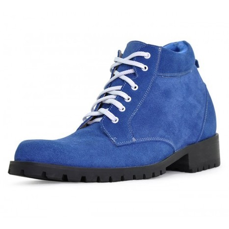 Cheap Blue men elevator boots can be taller 9cm / 3.54inches on Sale at Topoutshoes.com | Tall Elevator boots men increase height | Scoop.it