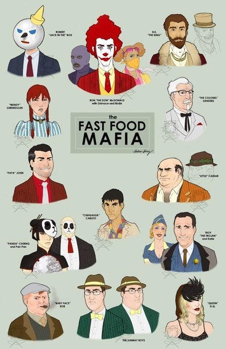 Fast Food Mascots as Gangsters »  Flavorwire | Food Meditations | Scoop.it